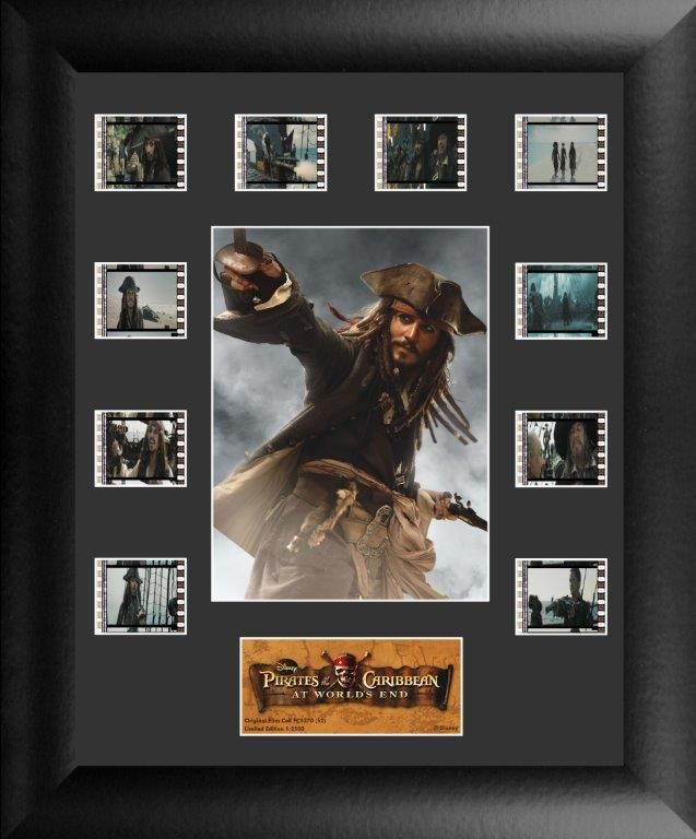 Pirates Of The Caribbean At Worlds End Collector Filmcells Framed