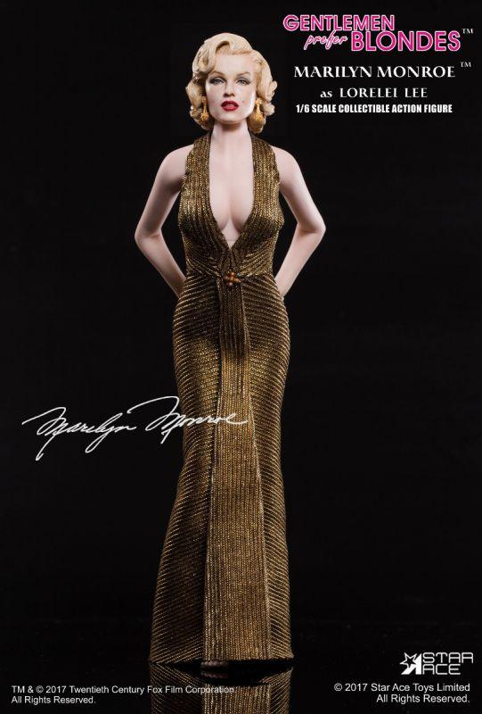 Marilyn Monroe Gold Dress Action Figure 1/6