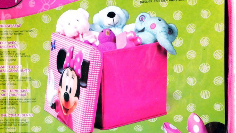 Minnie Mouse Storage Box Hocker