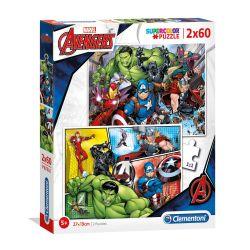Clementoni Puzzle The Avengers, 2x60st.