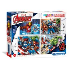 Clementoni Puzzle The Avengers, 4in1