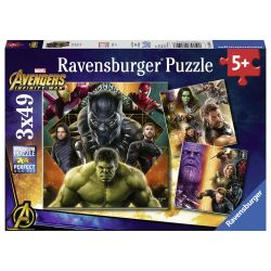 Ravensburger Avengers Infinity War Puzzle, 3x49st.
