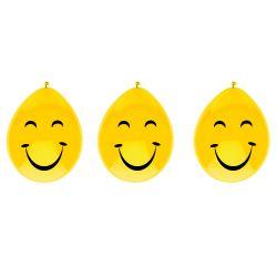 Smile face balloons, 6pcs.