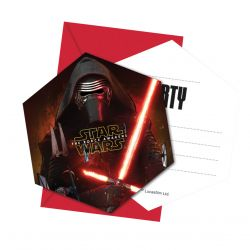 Star Wars invitations, 6pcs.