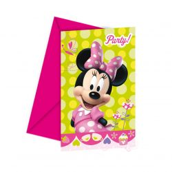 Minnie Mouse invitations, 6pcs.