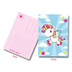 Unicorn Invitations, 8st.