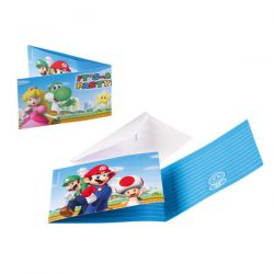 Super Mario Invitations, 8st.
