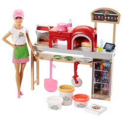 Barbie Pizza Baker Playset with Clay Dough