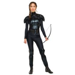 Hunger Games KATNISS Deluxe COSTUME with Bow