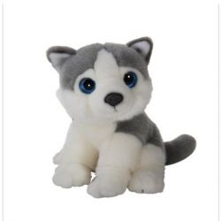 Small Animal Plush Dog Husky Wild Watchers