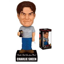 Charlie Sheen Wacky Wobbler Talking Bobble Head