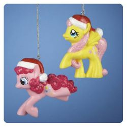 My Little Pony Figural Christmas Ornament Case 2 pcs
