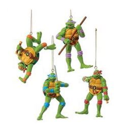 Teenage Mutant Ninja Turtles Retro Ornament Case 4pcs