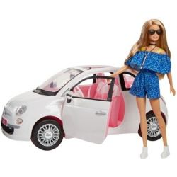 Barbie Fiat car vehicle with Barbie