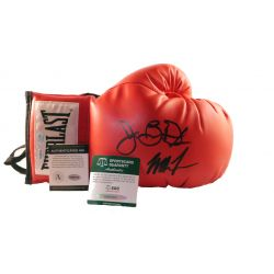 Boxing Glove Signed by Mike tyson and James Buster Douglas