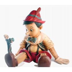 Pinocchio and  Jiminy Cricket Lifesize figure
