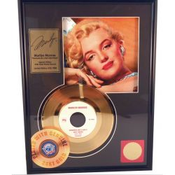 Marilyn Monroe Frame Golden record 24 karat