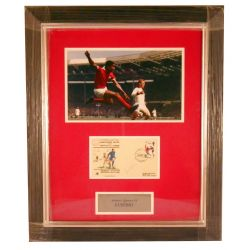 Eusebio Soccer Player Collector Frame Signed by Eusebio