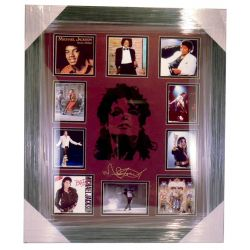 Micheal Jackson engraved signature Frame