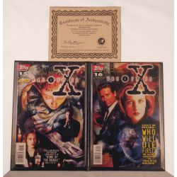 X Files Autographed Comics + 1 Extra comic