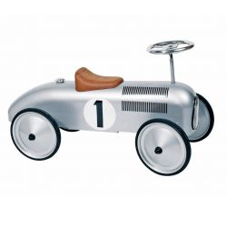 Retro walking car Silver