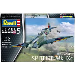 Plane Spitfire Mk. IXC Model Kit Level 5 - 03927