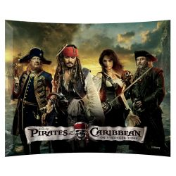 Pirates of the Caribbean Collector Print Curved Glass