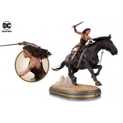 Wonder Woman Horse Back Statue