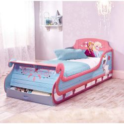 Disney Frozen Sleigh Bed includes a Large Drawer