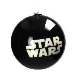 Star wars white logo christmas ornament